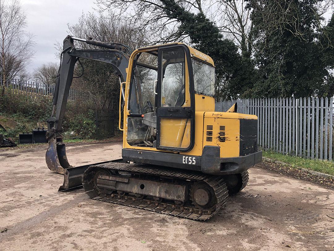 Volvo EC55 excavator 3