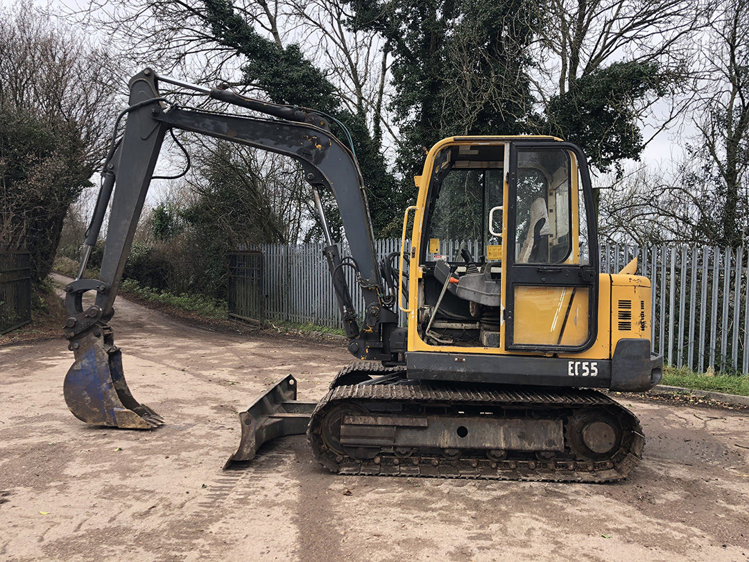 Volvo EC55 excavator 4